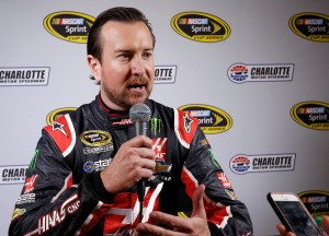 CHARLOTTE, NC - JANUARY 21: Driver Kurt Busch talks with reporters during the NASCAR 2016 Charlotte Motor Speedway Media Tour on January 21, 2016 in Charlotte, North Carolina. Bob Leverone / NASCAR via Getty Images  (Photo by Bob Leverone/NASCAR via Getty Images)