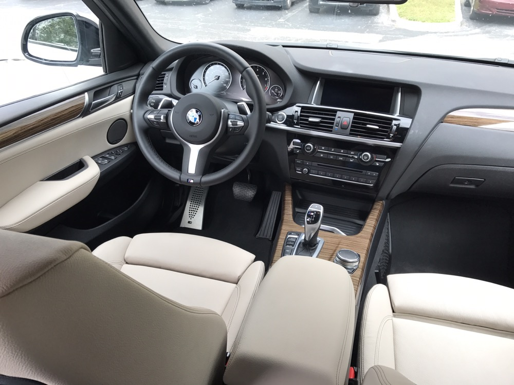 The Interior Of X4 M40i Was Quite Nice Leather Seats With Wood Trim Gave This Performance Enthusiastic Family SUV A Touch Refinement